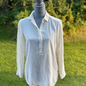 Banana Republic ivory silk blouse size S